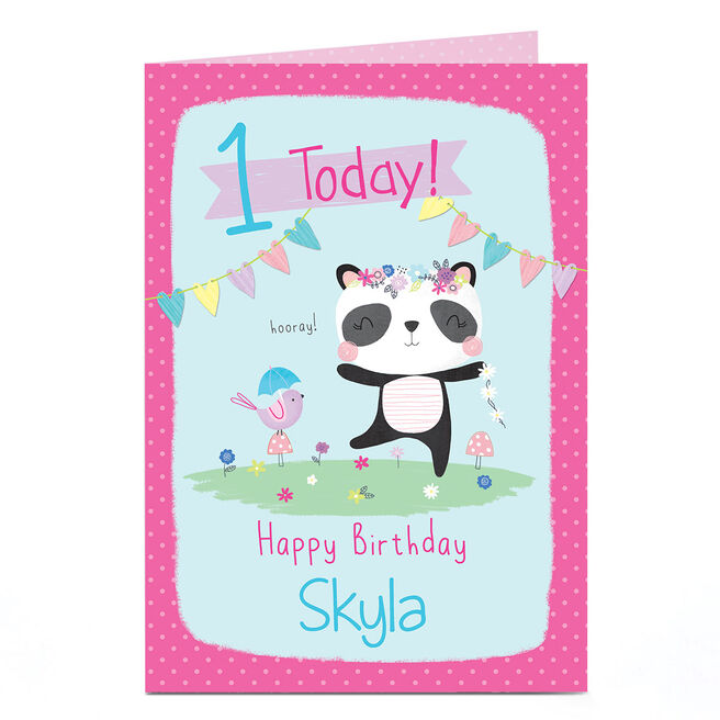 Personalised Any Age Birthday Card - Panda Party