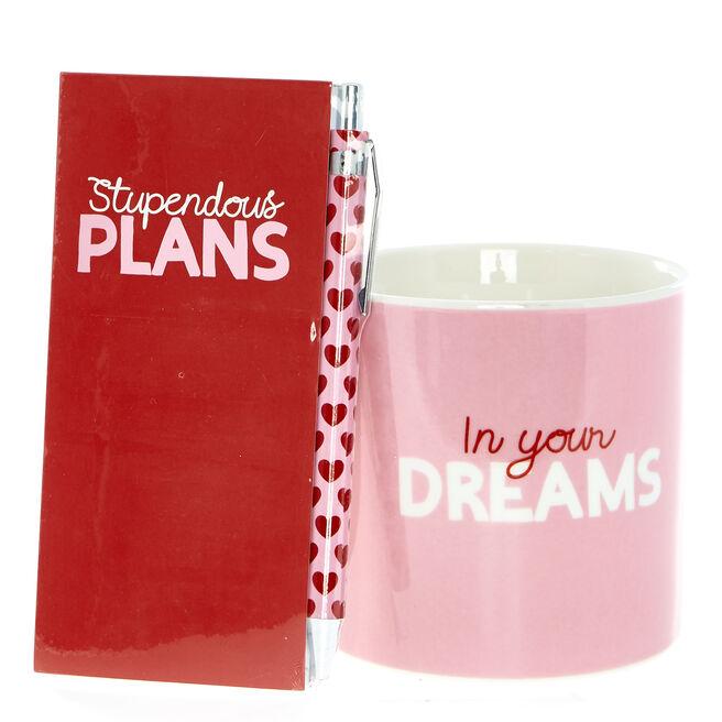 Love Bites In Your Dreams Mug, Notebook & Pen