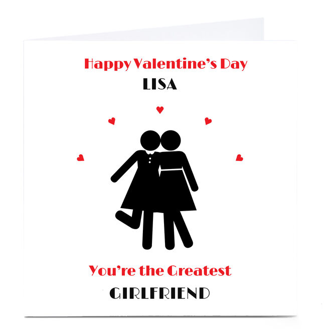 Personalised Valentine's Card - Hers & Hers, Greatest Girlfriend
