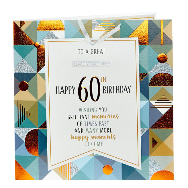 Exquisite Collection 60th Birthday Card - Brilliant Memories (With Stickers)