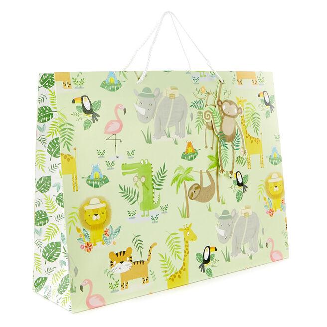 Large Landscape Gift Bag - Jungle Animals
