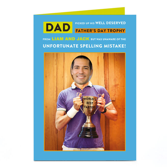 Photo Father's Day Card - Funny Trophy