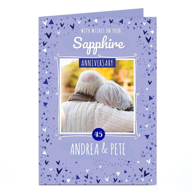 Personalised Anniversary Photo Card - Sapphire Anniversary