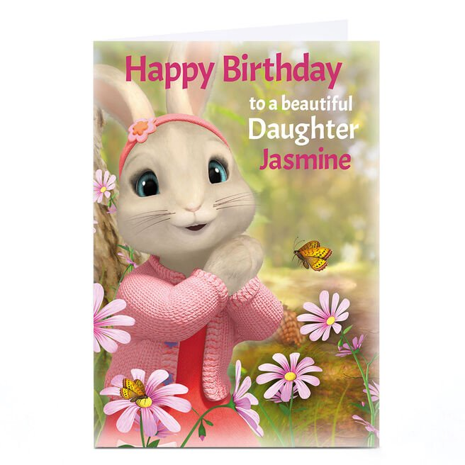 Personalised Peter Rabbit Birthday Card - To A Beautiful...