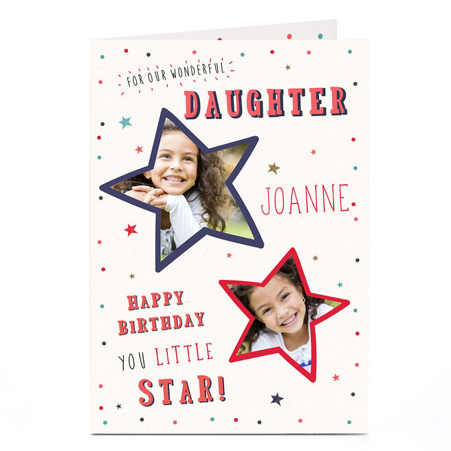 Photo Birthday Card - Daughter, Little Star
