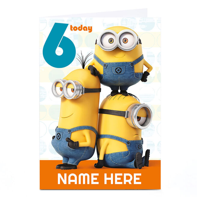 Personalised Despicable Me Card - Minion Age 6