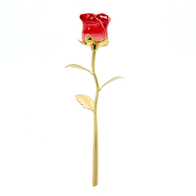 Sentimental Eternal Gold Rose Ornament