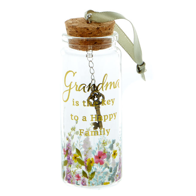 Grandma is the Key to a Happy Family Decorative Jar
