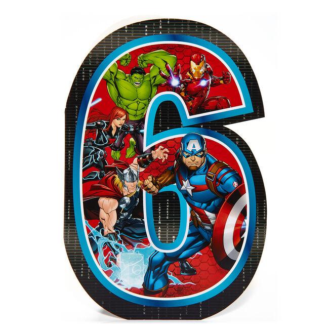 Marvel Avengers 6th Birthday Card