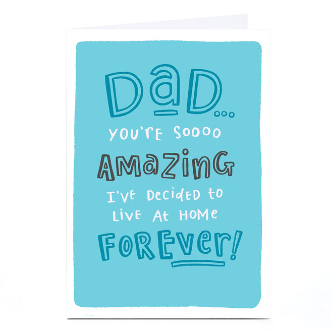 Personalised Blue Kiwi Father's Day Card - Dad, So Amazing