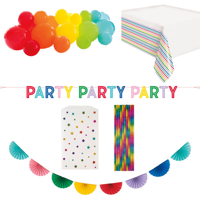 Rainbow Party Accessories Kit