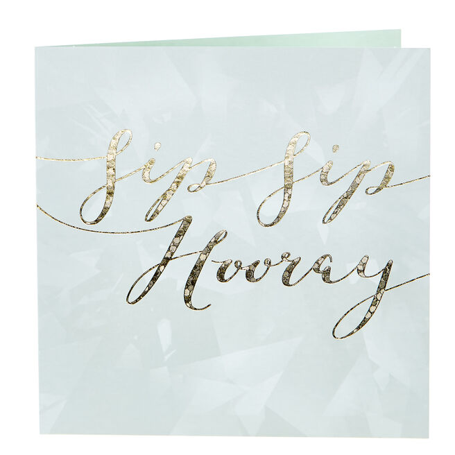 Any Occasion Card - Sip Sip Hooray