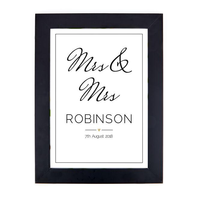 Personalised Print - Wedding Date