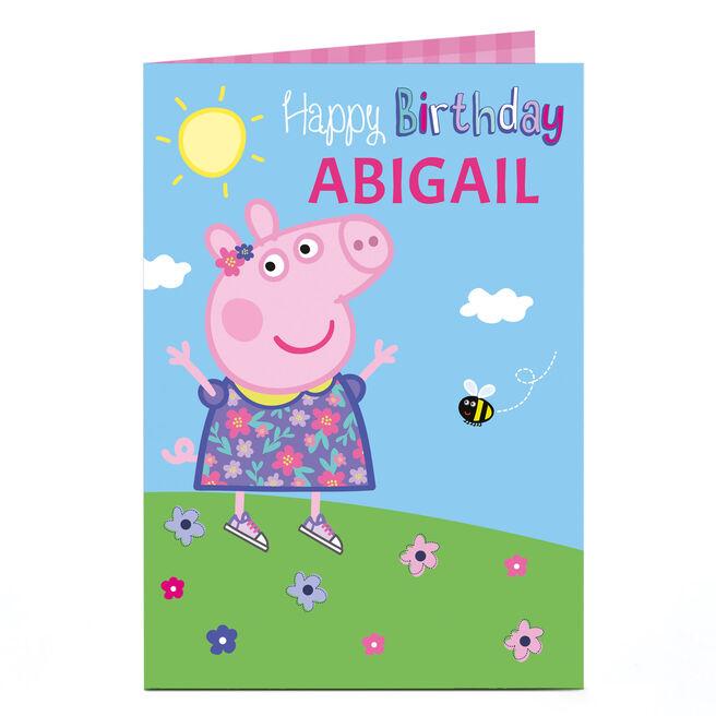 Personalised Birthday Card - Peppa Pig