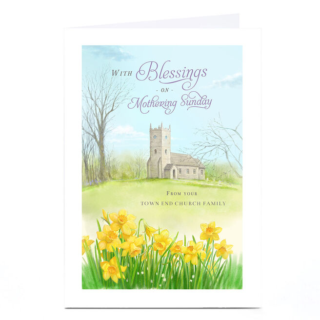 Personalised Mother's Day Card - Mothering Sunday