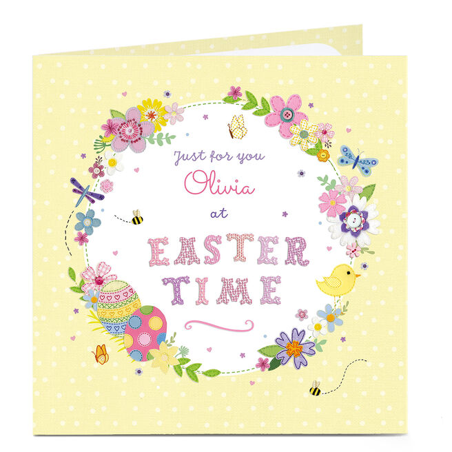 Personalised Easter Card - Easter Time
