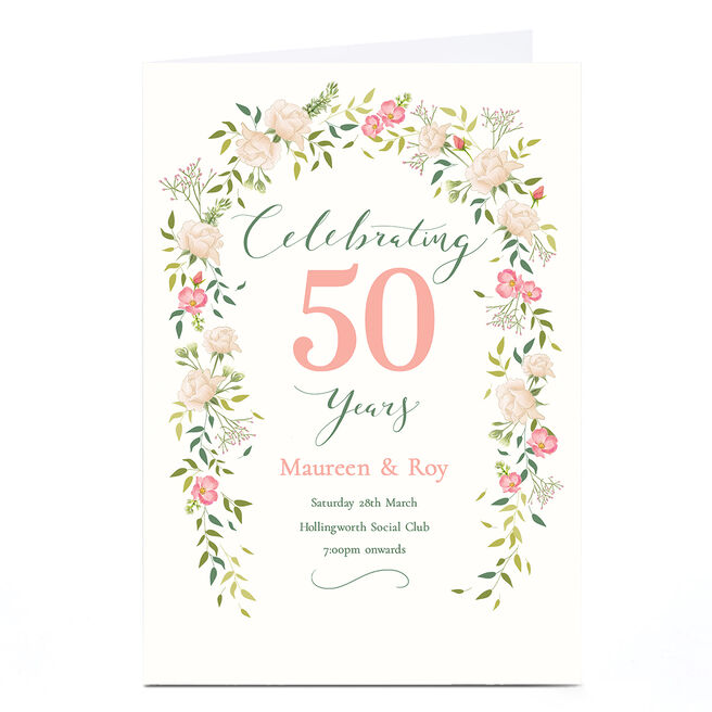 Personalised Anniversary Invitation - Celebrating Years