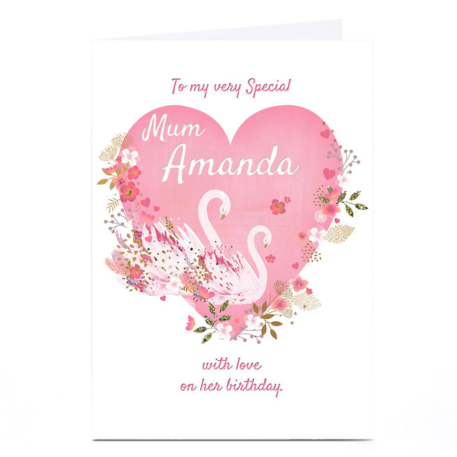 Personalised Kerry Spurling Birthday Card - With Love, Mum