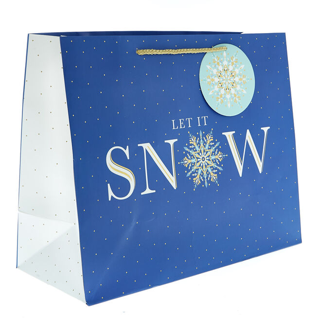 Medium Landscape Let It Snow Christmas Gift Bag