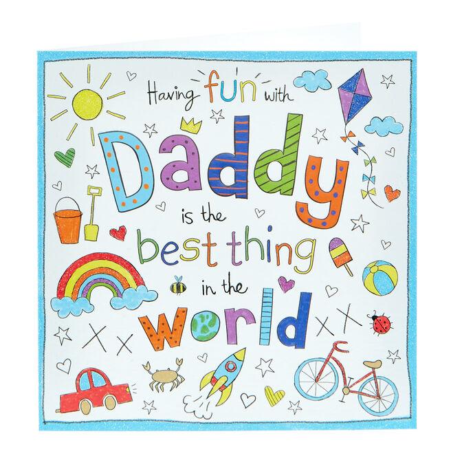 Birthday Card - Having Fun With Daddy