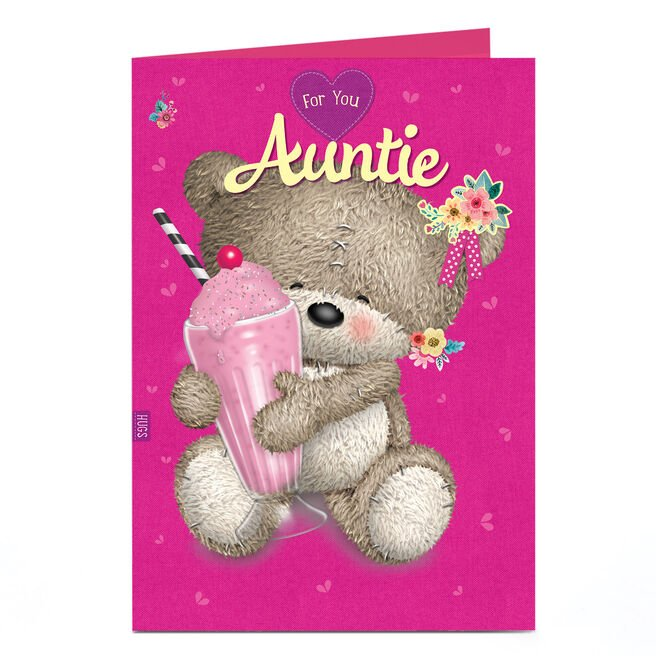 Personalised Birthday Card - Hugs Bear With Milkshake