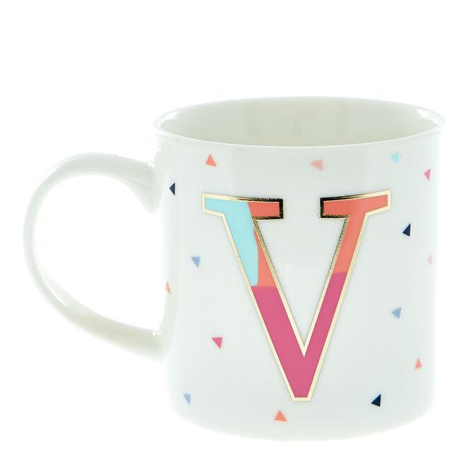 Letter V Alphabet Mug