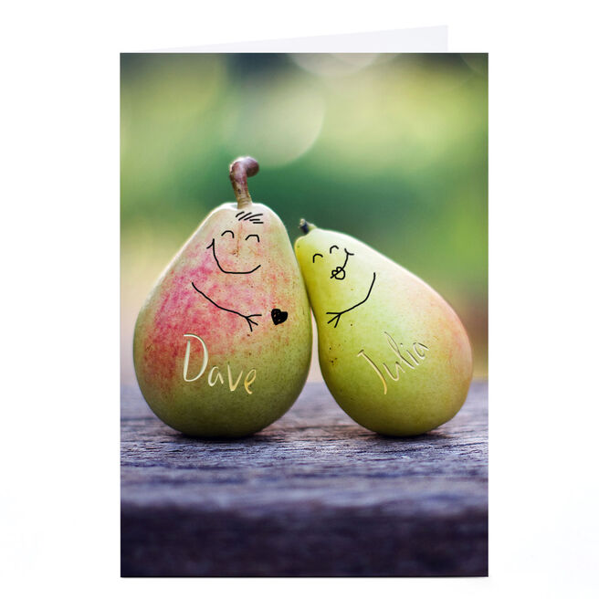 Personalised Card - What A Pear