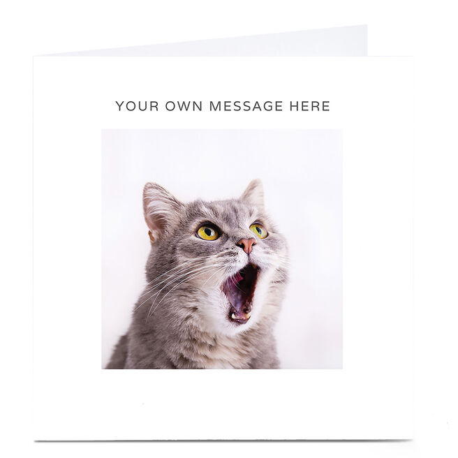 Personalised Card - Shocked Cat