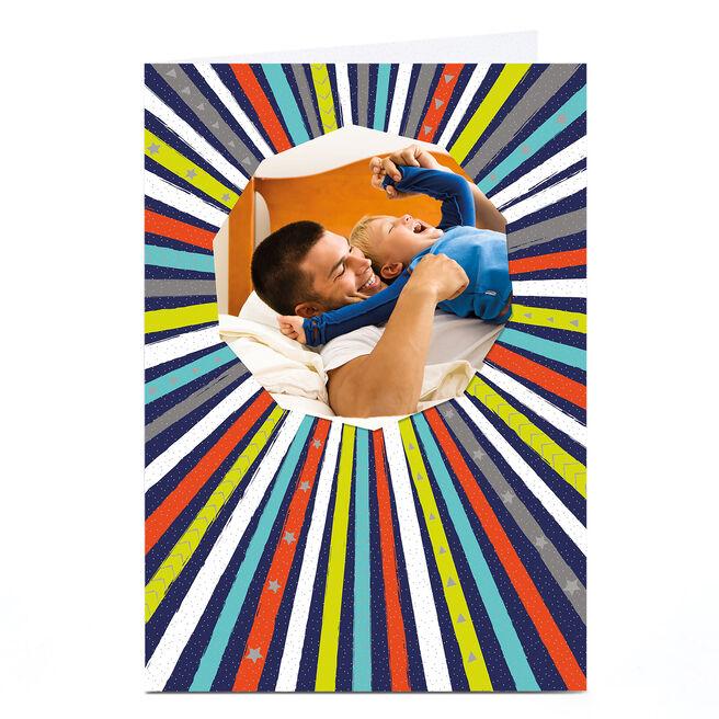 Photo Card - Multicoloured Stripes