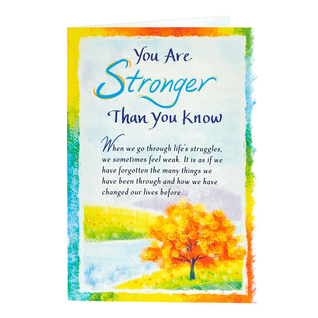 Blue Mountain Arts Card - You Are Stronger Than You Know