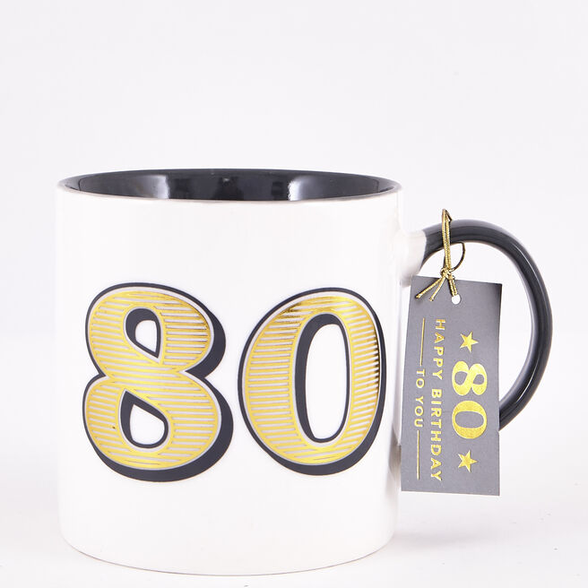 80th Birthday Mug - Classic Collection