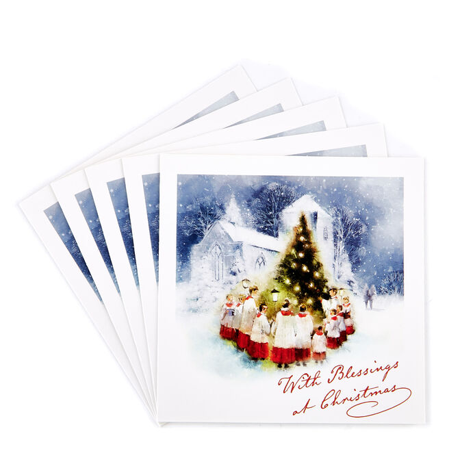 Charity Christmas Cards - Choir Blessings (Pack Of 7)
