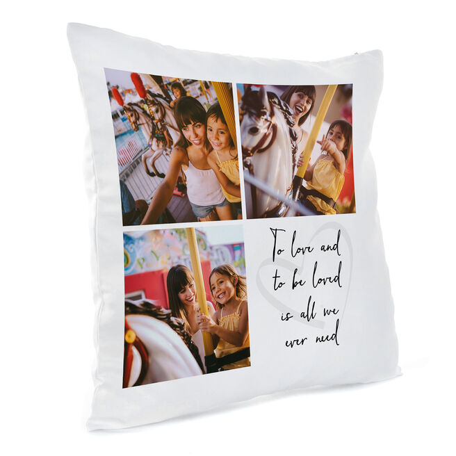 Personalised Photo Cushion - To Love and Be Loved