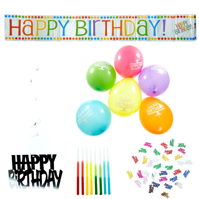 Colourful Birthday Accessory Kit - 26 Pieces