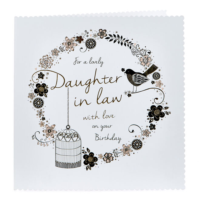 Platinum Collection Birthday Card - Lovely Daughter in Law