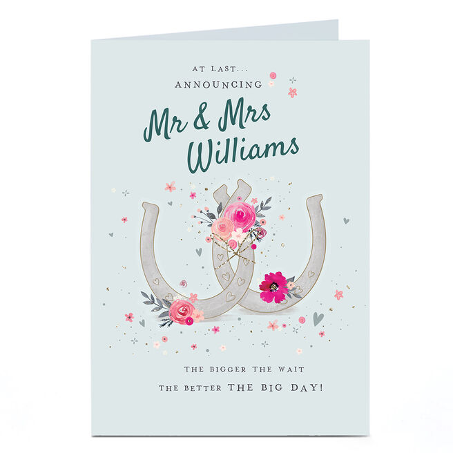 Personalised Covid Wedding Card - At Last Announcing