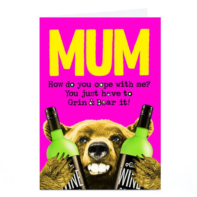 Personalised PG Quips Card - Mum, How Do You Cope?