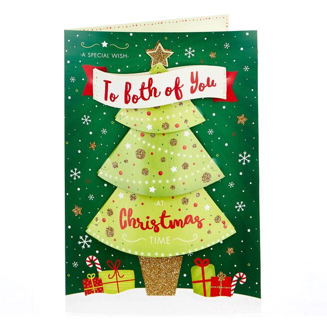 3D Christmas Card - Both Of You, Xmas Tree