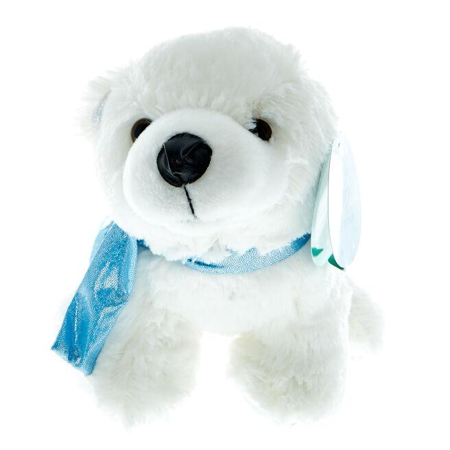 Arctic Polar Bear Christmas Soft Toy