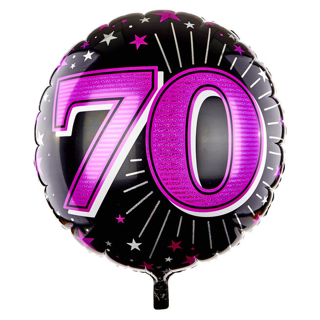31 Inch 70th Birthday Helium Balloon - Pink