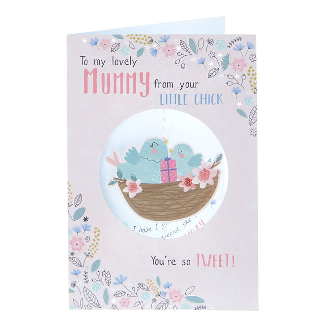 Birthday Card - Mummy From Your Little Chick