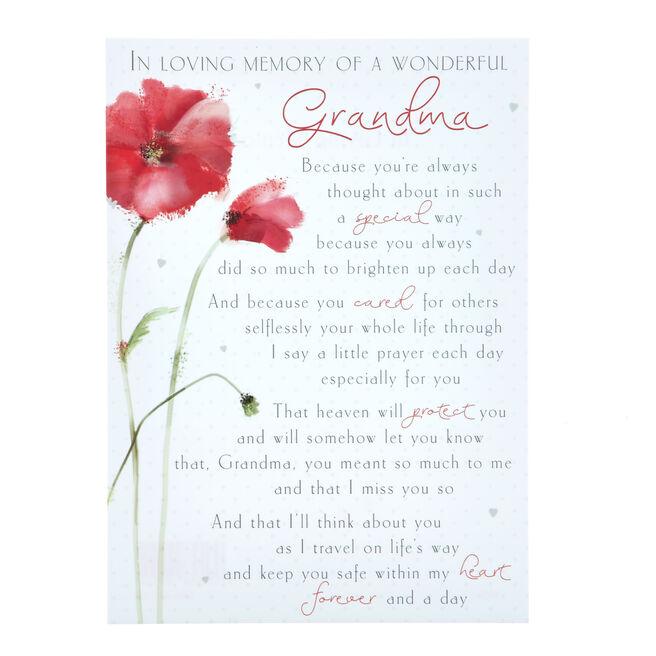 Love & Friendship Postcard - Grandma, In Loving Memory