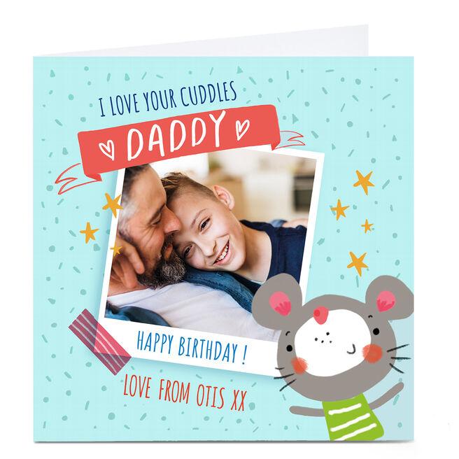 Photo Carol Richardson Birthday Card - Daddy Cuddles Blue
