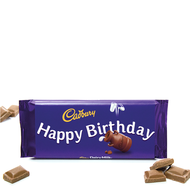 110g Cadbury Dairy Milk Chocolate Bar - Happy Birthday