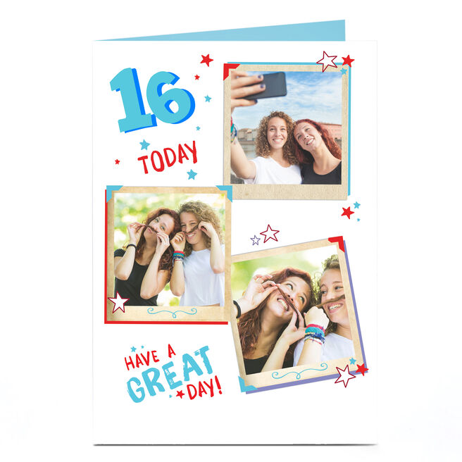 Any Age Photo Birthday Card - Great Day