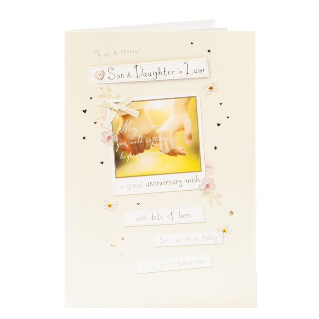 Anniversary Card - Son & Daughter In Law Special Wish