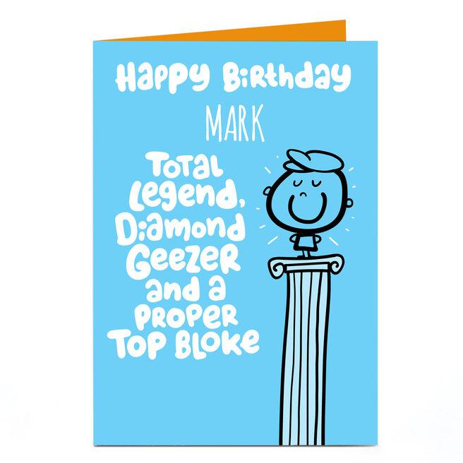Personalised Fruitloops Birthday Card - Proper Top Bloke