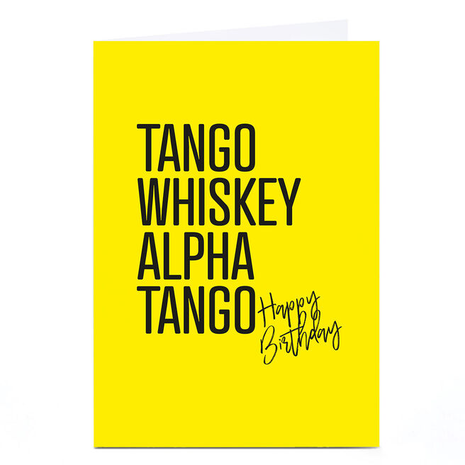 Personalised Punk Birthday Card - Tango Whiskey Alpha Tango