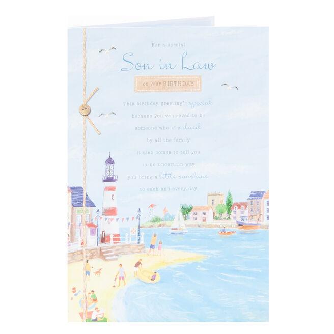 Birthday Card - Son in Law, A Little Sunshine