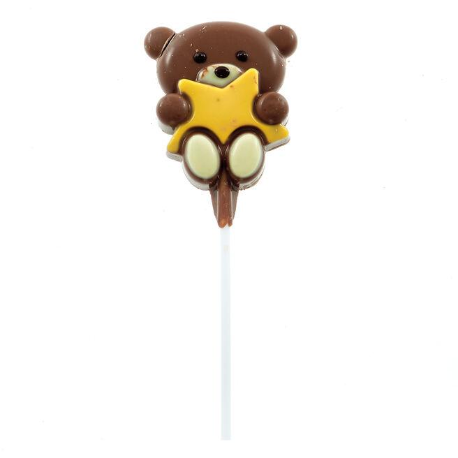 Hugs Bear No.1 Grandad Milk Chocolate Lollipop